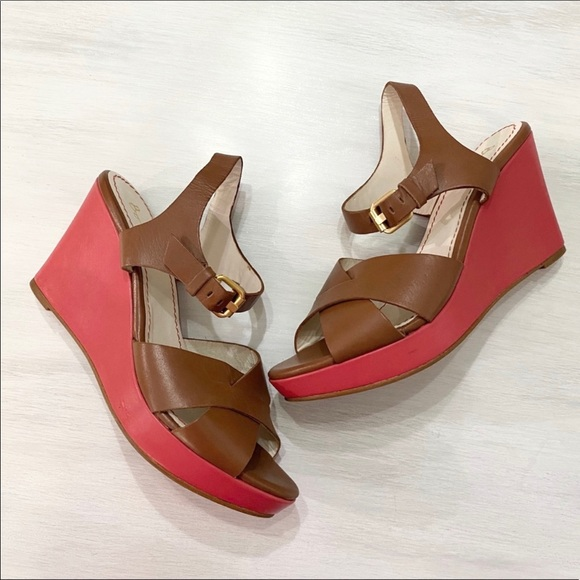 Boden Leather Wedges